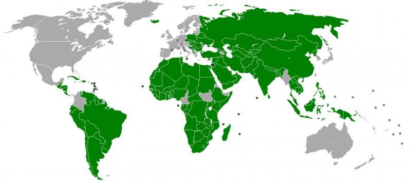 Страны, признавшие Палестину государством